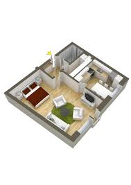 Building Plans For House by 40 More 1 Bedroom Home Floor Plans