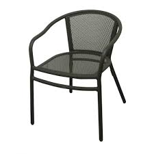 Black Patio Chair Steel Patio Chair With Mesh Seat And Back Sc900b