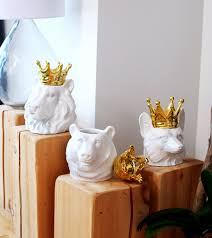 crowned fox head ceramic kitchen canisters hottt com