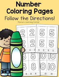 number coloring pages for preschool early kindergarten mamas