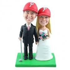 custom golf wedding cake toppers