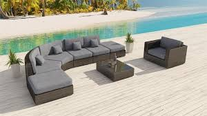Cushions For Wicker Patio Furniture Zanzibar L Shaped Bronze Furniture Set 14