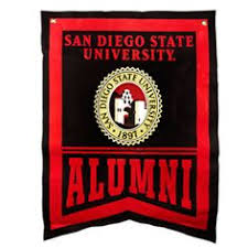 sdsu alumni license plate smoke tone key tag with polished chrome laser engraved