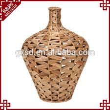 Italian Vase Novelty Straw Handcraft Italian Tall Flower Vase Large Floor Vases