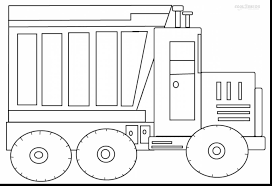 awesome dump truck coloring pages printable with truck coloring
