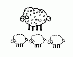 sheep outline coloring kids coloring