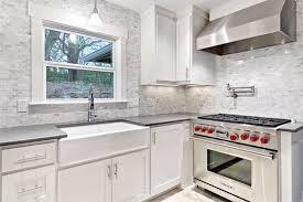 Carrara Marble Kitchen Backsplash Farmhouse Sink With Backsplash Kitchen Eclectic With Backsplash