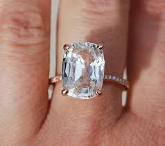 Blake Lively Wedding Ring by Blake Lively Ring White Sapphire Engagement Ring Cushion Cut 18k