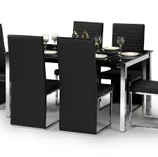 Modern Dining Set Design Black Gloss And Silver Leaf Dining Room Set Orla Silver And Black