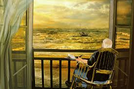 Old Man In Rocking Chair Rocking Chair Paintings Fine Art America