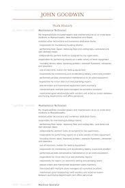 Sample Resume For Machine Operator by Maintenance Technician Resume Samples Visualcv Resume Samples