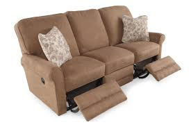 la z boy addison mushroom reclining sofa mathis brothers furniture