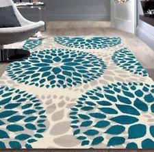 Modern Floral Area Rugs 8x11 Blue Beige Navy Grey Aqua Teal Modern Floral Area Rug