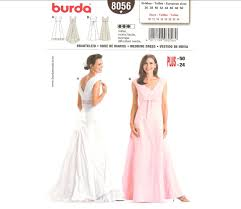 wedding dress pattern burda 8056 wedding dress