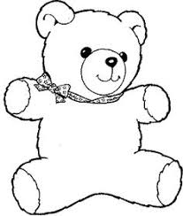 drawn teddy bear cartoon black white pencil color