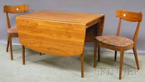 Drop Leaf Dining Table And Chairs Mid Century Modern Drexel Declaration Walnut Drop Leaf Dining