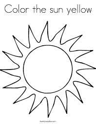 sun coloring pages ideas kids 3429 unknown