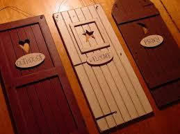 Rustic Bathroom Accessories Sets - country outhouse welcome privy 3 rustic bathroom door signs set