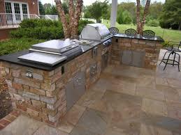 outdoor kitchen countertop ideas the outdoor kitchen soapstone countertop matches cement countertops