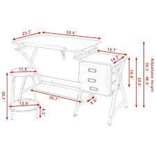 Adjustable Height Desk Plans by Black Pink Adjustable Drafting Table Drawing Desk W Stool Art