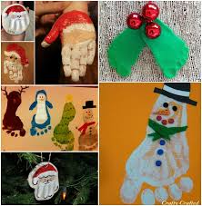 cute and fun christmas handprint and footprint art beesdiy com