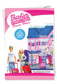 barbie dream house funny birthday card