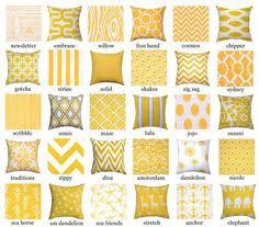 Pillow Cover Decorative Pillow Cover Yellow Pillow Throw Pillow
