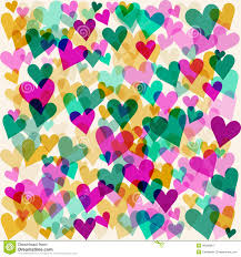 Design For Valentines Card Bright Motley Colored Hearts Seamless Pattern Background For Use