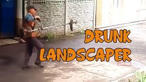 drunk russian landscaper moonwalks youtube
