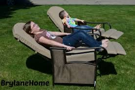 brylanehome extra wide textured vinyl outdoor cushioned recliner