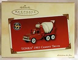hallmark halloween ornaments amazon com hallmark keeposake ornament tonka 1961 cement truck