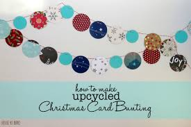 upcycle christmas cards into winter bunting