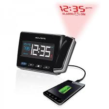 Clock That Shines Time On Ceiling by Atomic Projection Clock With Usb Charger