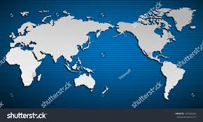 world map stock image vector flat world map pacific stock vector 183942284