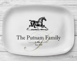 personalized serving trays platters melamine platter etsy