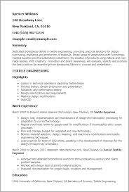 Production Engineer Resume Samples professional textile engineering templates to showcase your talent