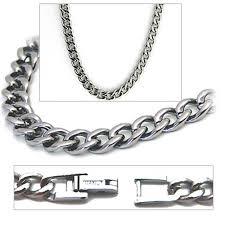 titanium curb chain necklace images 5 5mm titanium men 39 s curb link necklace chain jpg