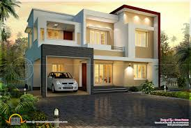 modern flat roof house square feet home building plans 58857