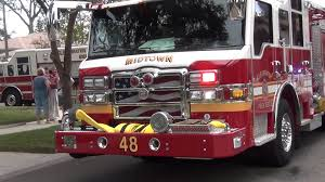 Flag Clearwater Clearwater Fire Rescue Midtown 48 With Roto Ray On Front Nice