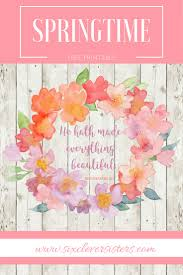 free spring printable six clever sisters