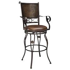 Upholstered Bar Stools With Backs Bar Height Big U0026 Tall Copper Back Swivel Bar Stool With Arms By