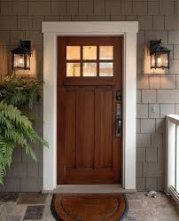 Flush Exterior Door Craftsman Exterior Door Entry Craftsman With White Trim Flush