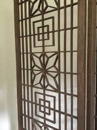 century teak room divider screen