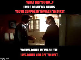 You Re A Towel Meme - image tagged in pulp fiction bloody towel scene imgflip