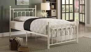 homelegance lia metal platform bed white 2048tw 1