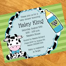 baby boy cow print baby shower decorations