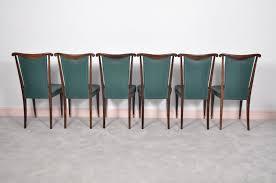 Esszimmerst Le Mit Leder Italienische Esszimmerstühle Mit Grünen Lederbezügen Von Paolo