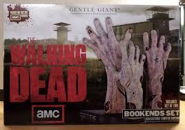 the walking dead bookends set dash action figures