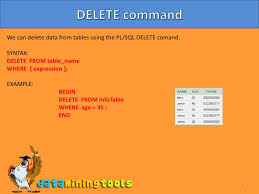 Delete Data From Table Oracle Plsql Commands