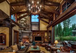 mountain home interiors texan style rustic mountain cabin adorable home